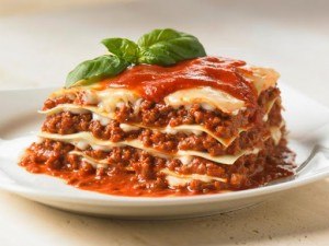 Italian lasagne in Leonardo