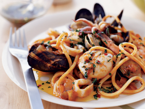 Seafood dishes from Sardinia cuisine