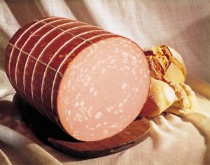 Mortadella sausage from Bologna