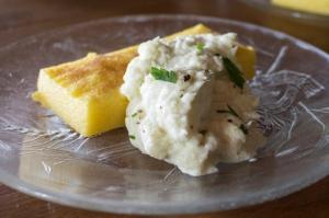 Baccala mantecato according to an Italian recipe
